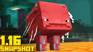 NEW Strider Mob Update! Lodestone Minecraft 1.16 Snapshot 20w13a