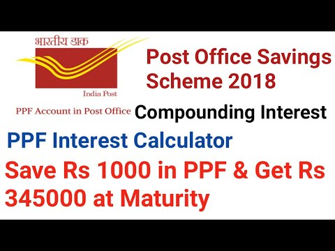 Post Office Savings Scheme 2018 PPF Interest Calculator Public