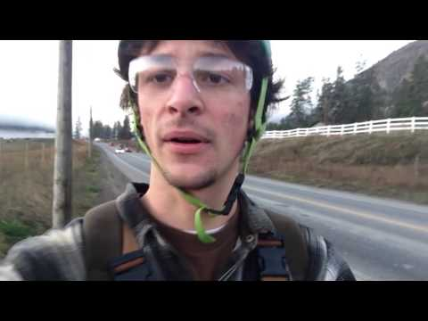Biking to work in Kelowna, BC