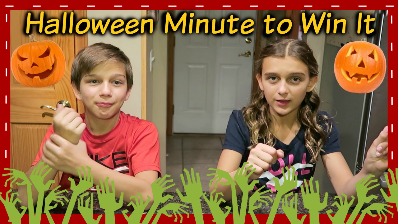 Halloween Minute To Win It Challenge Youtube