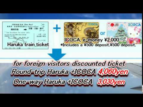 From Kansai Airport (KIX) to Kyoto, Osaka, Kobe special ticket.  Japan Info 01 Moopon