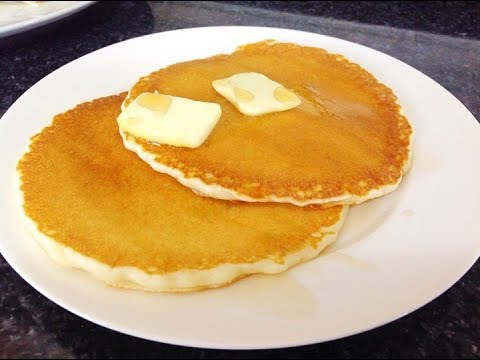 Pancakes Recipe - Light and Fluffy Pancakes by (HUMA IN THE KITCHEN)
