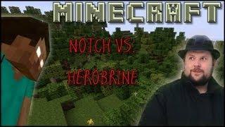 Minecraft - [Fun Episode] - The attack of Herobrine