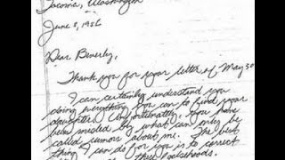 ::VERY RARE:: TED BUNDY LETTER TO THE MOTHER OF ANN MARIE BURR (WITH TRANSLATION BELOW)