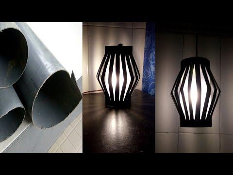 Cara Membuat Lampu Hias Gantung Dari Pipa Pvc Paralon Bekas || DIY decorative lamps hanging from pvc