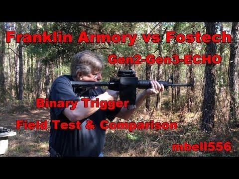 Franklin Armory Gen 3 BFS Binary Trigger, Gen2 BFS & Fostech ECHO: Field Test & Comparison