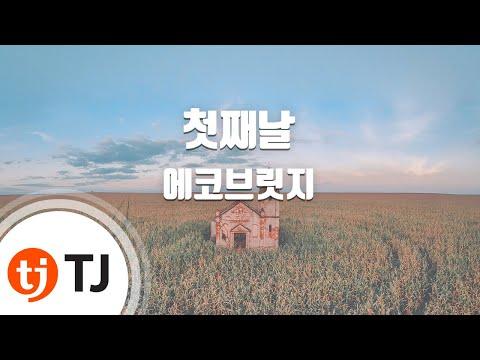 [TJ노래방] 첫째날 - 에코브릿지(With 나얼) (First day - Echo bridge(with Na-ul)) / TJ Karaoke