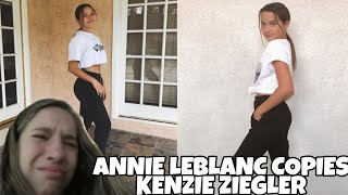Annie Leblanc copies Mackenzie Ziegler's Instagram pictures | Some really hot tea😲