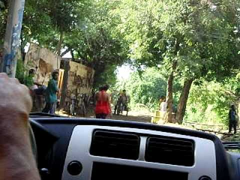 Driving on the streets of Managua, Nicaragua to the slum area (Manchester) to minister