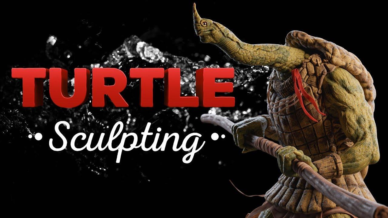 Turtle Character Sculpting - Blender Timelapse
