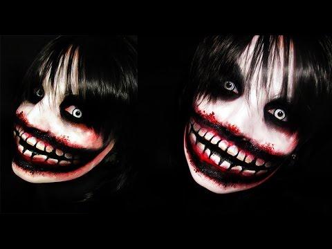 jeff the killer creepypasta makeup tutorial youtube