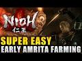 Nioh Best Early Amrita Farming Method - Nioh Level Up Fast Guide