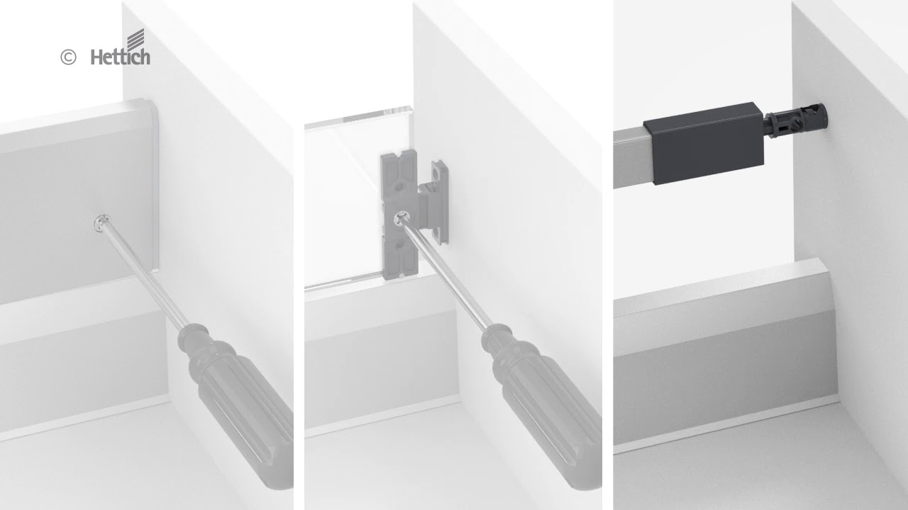 Push To Open Systeem Hettich Lade Met Push To Open Silent System 2