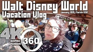 Walt Disney World Trip 360 Vlog January 2019 | VR Vacation