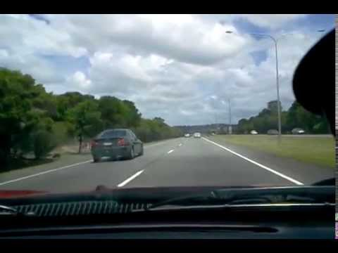 Driving to work on Australia Gold Coast roads 5