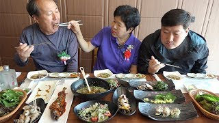 Go to [[Raw fish restaurants]] on parents\' day - Mukbang eating show