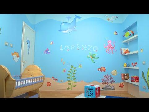 Adesivi Murali Low Cost.La Cameretta Dei Bambini Diventa Un Mare Parte 2 Applicare Gli Adesivi Murali Leostickers
