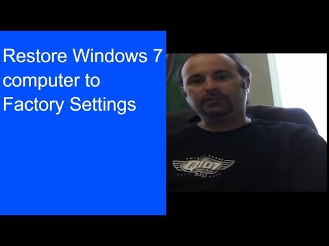 how to set a computer to factory default