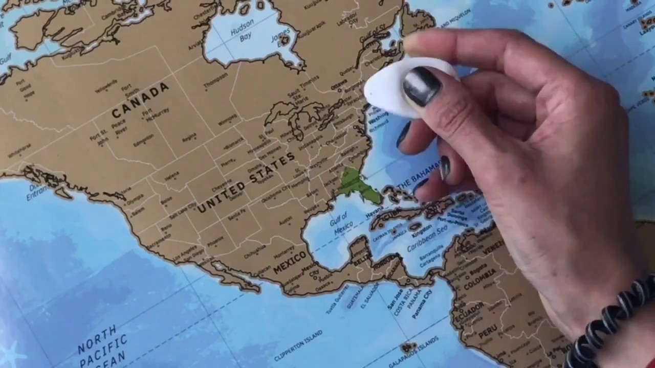 World scratch off travel map youtube world scratch off travel map gumiabroncs Image collections