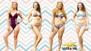 Adrienne & Corrina Swimsuit Haul ♥ 3Dio Dual Whispers & Ear Massage Fabric Sounds ASMR