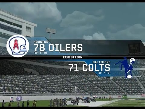 1978 Houston Oilers vs. 1971 Baltimore Colts