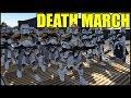 Clone DEATH MARCH Over Narrow Bridge - Men of War: Star Wars Mod Battle Simulator