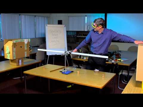 Amazing science demo two: Newton's Three Laws Cannon