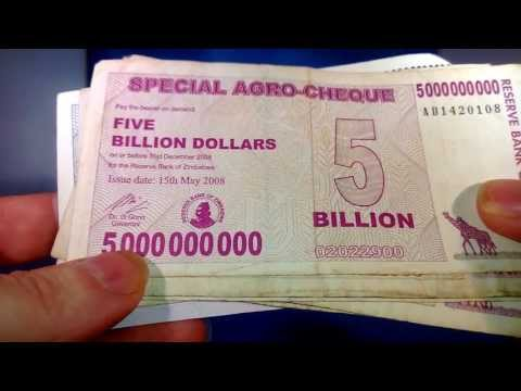 The 100 Trillion Dollar Bill - Super Hyperinflation - Zimbabwe Economic Disaster