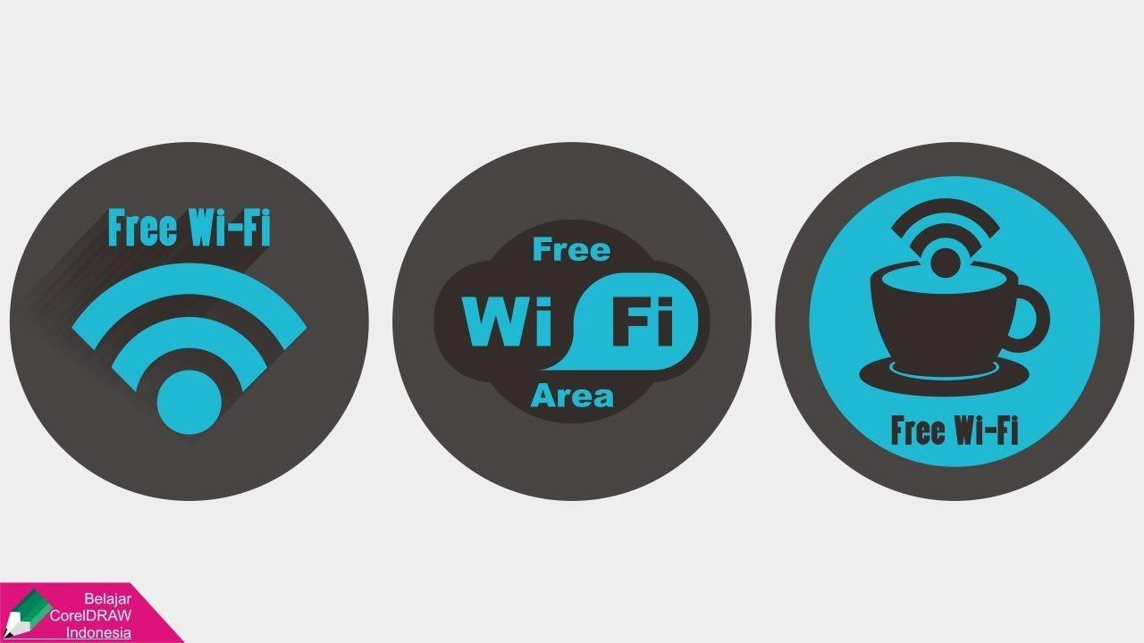 Tutorial Logo Free Wi-Fi | Belajar CorelDRAW - YouTube