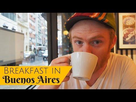 Argentine Breakfast in Buenos Aires, Argentina