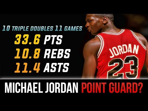 When Michael Jordan Played Point Guard And KILLED IT! 10 Triple Doubles In 11 Games!