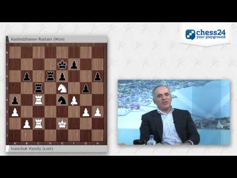 Garry Kasparov on the Chess Olympiad webcast - Round 5
