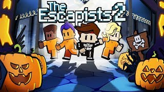 ZOMBIE BLITZ ESCAPES the HAUNTED PRISON CRYPT - The Escapists 2 Gameplay
