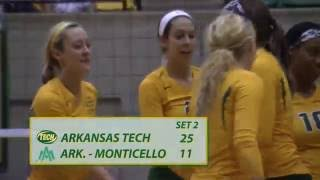 Tech Volleyball vs. UAM Highlights 10/2/15