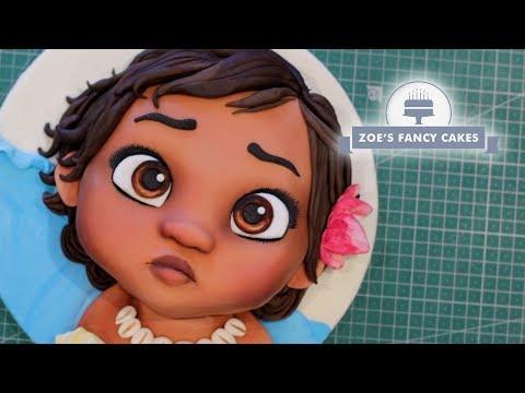 Moana cake | Baby Moana cake tutorial