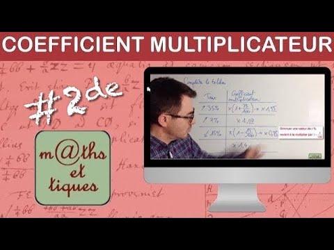 Calculer Un Coefficient Multiplicateur Taux D Evolution Premiere