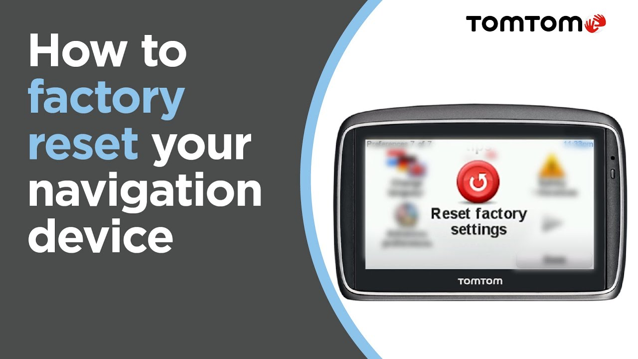 how to perform a factory reset on a device that connects to tomtom rh youtube com tomtom start 20 instruction manual tomtom start 42 user manual