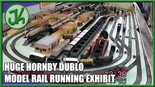 Hornby Dublo tinplate 3 rail exhibition layout running