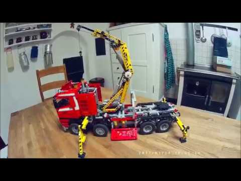 lego technic 8258 mod crane truck power functions youtube. Black Bedroom Furniture Sets. Home Design Ideas