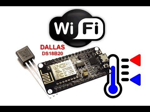 Термо-датчик на микросхеме DS18B20 с передачей данных на Web сервер с помощью модуля ESP8266.