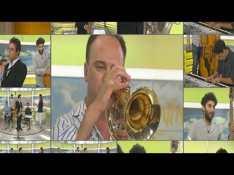 """""""Labas rytas, Lietuva"""" studijoje - džiazo muzikantai """"M.B.Sea Group"""" iš Italijos"""