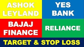 Ashok Leyland Yes Bank Bajaj Finance Reliance Industries | share technical analysis to earn profit