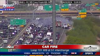 CAR FIRE: Impacts Valley traffic on Loop 101 Friday (FNN)