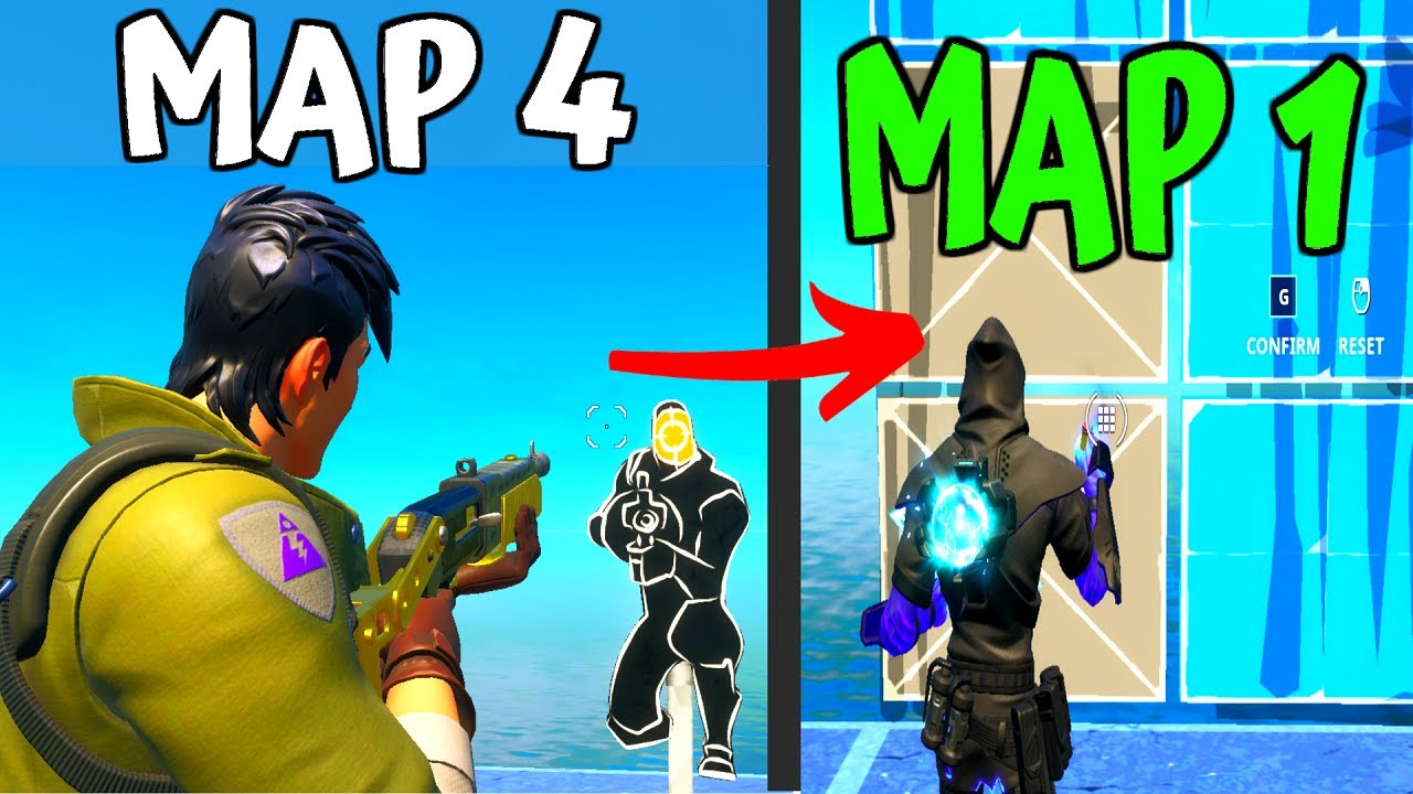 4 Awesome Creative Maps To Practice Aim And Edit Fortnite