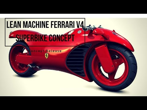 Lean Machine Ferrari V4 superbike concept | Motorcycle-sport! - YouTube