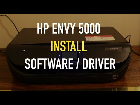 HP Envy 5000 Series Printer : Download Install Software & Connect Using HP Auto Wireless !!