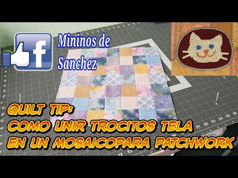 QUILT TIP: Unir trocitos de Tela en Mosaico para Patchwork