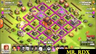 clash of clans - Best loot of TH9 ever -1.4 million loot