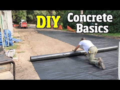 How to lay a cement slab for a garage