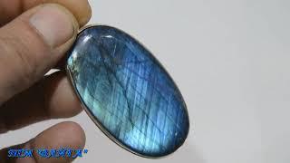 """Кулон из синего лабрадора в серебре """"Грозовые небеса"""""""